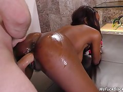 Take it he does! Wait until you see Jezabel have an anal orgasm! This, of course, after James fucks her tight cunt hard and fast. After Jezabel cleans her ass off James`s cock, he unloads a fat, sticky load all over her beautiful tongue. Time to swallow!