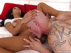 And that`s exactly what goes down! At random times during their hot, hot fuck session, load dumper after load dumper marches into the room, orders Nia to her knees, and unleashed either directly into her mouth (for the swallow) or all over her beautiful,